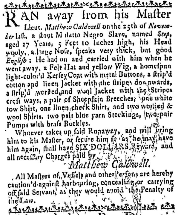 Jan 7 - Massachusetts Gazette Slavery 3