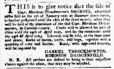 Jan 7 - Virginia Gazette Purdie and Dixon Slavery 2