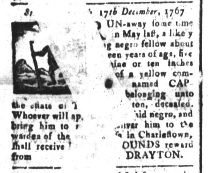 Jan 8 - South-Carolina and American General Gazette Slavery 9