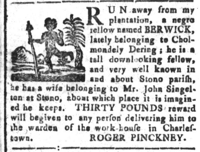 Feb 12 - South-Carolina and American General Gazette Slavery 10