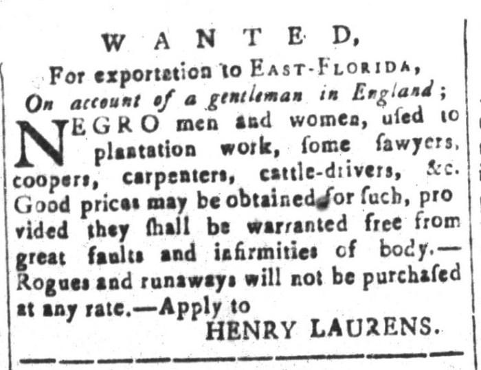 Feb 12 - South-Carolina and American General Gazette Slavery 14