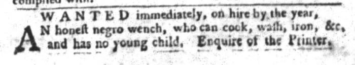Feb 16 - South-Carolina Gazette and Country Journal Slavery 1