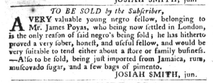 Feb 16 - South-Carolina Gazette and Country Journal Slavery 2