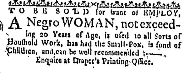 Feb 18 - Massachusetts Gazette Slavery 1