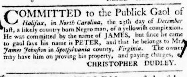 Feb 18 - Virginia Gazette Purdie and Dixon Slavery 6