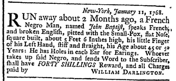 Feb 22 - New-York Gazette Weekly Post-Boy Slavery 1