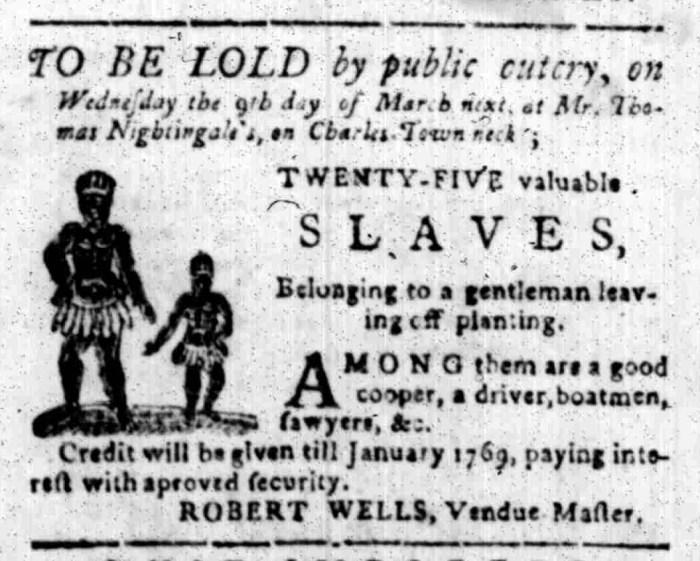 Feb 22 - South Carolina Gazette Slavery 4
