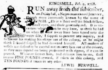 Feb 25 - Virginia Gazette Purdie and Dixon Slavery 5