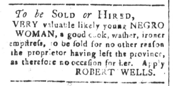 Feb 26 - South-Carolina and American General Gazette Slavery 2