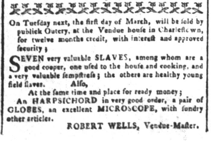 Feb 26 - South-Carolina and American General Gazette Slavery 3