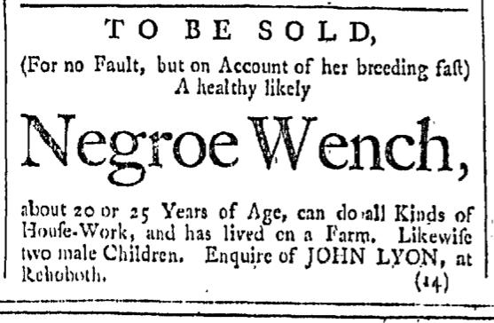Feb 27 - Providence Gazette Slavery 1