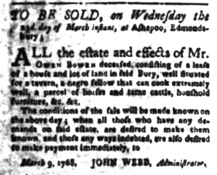 Mar 7 - South Carolina Gazette Slavery 2