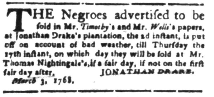 Mar 7 - South Carolina Gazette Slavery 4