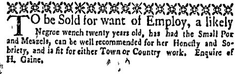 Apr 4 - New-York Gazette Weekly Mercury Supplement Slavery 3