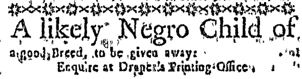 Apr 7 - Massachusetts Gazette Slavery 1