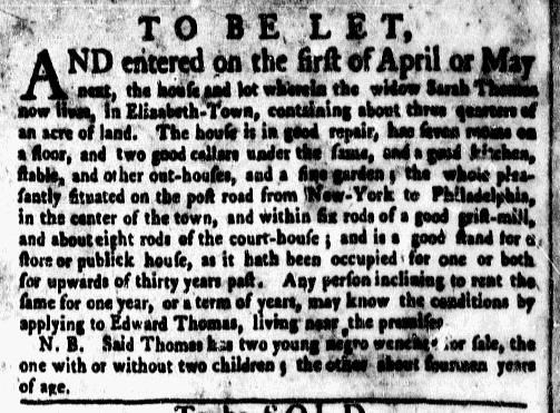 Mar 14 - New-York Gazette Weekly Mercury Supplement Slavery 3