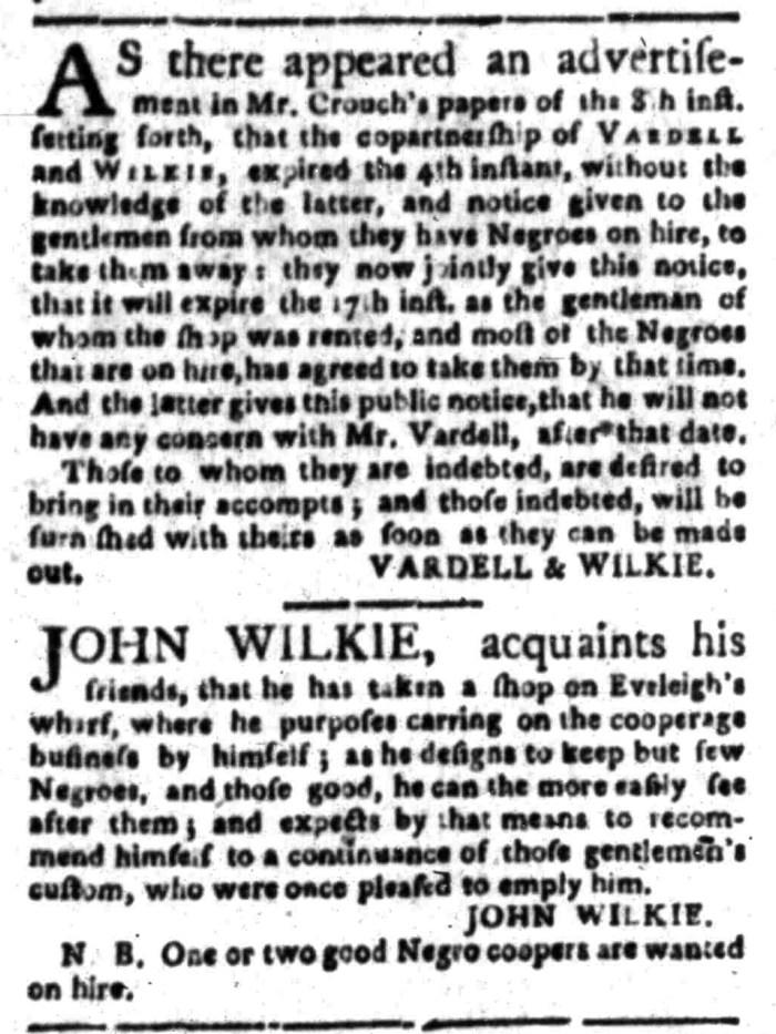 Mar 14 - South Carolina Gazette Slavery 2