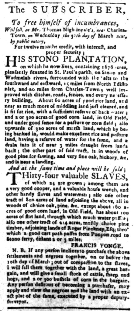 Mar 14 - South Carolina Gazette Slavery 3
