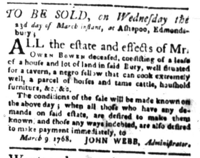 Mar 14 - South Carolina Gazette Slavery 6