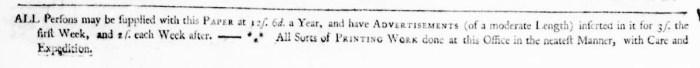 Mar 20 - 3:17:1768 Virginia Gazette Purdie and Dixon