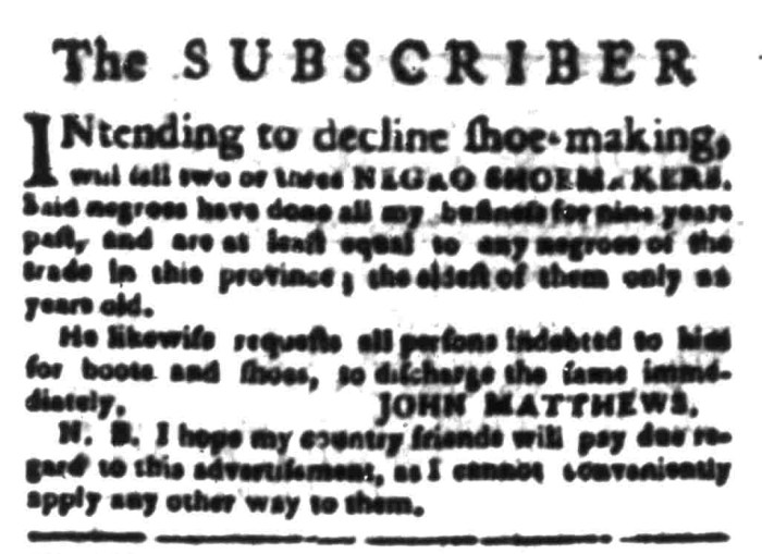 Mar 21 - South Carolina Gazette Slavery 5