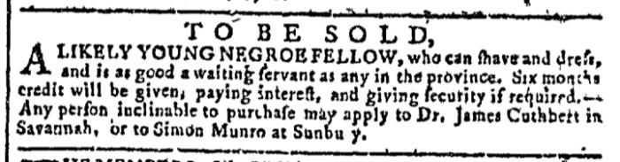 Mar 23 - Georgia Gazette Slavery 4