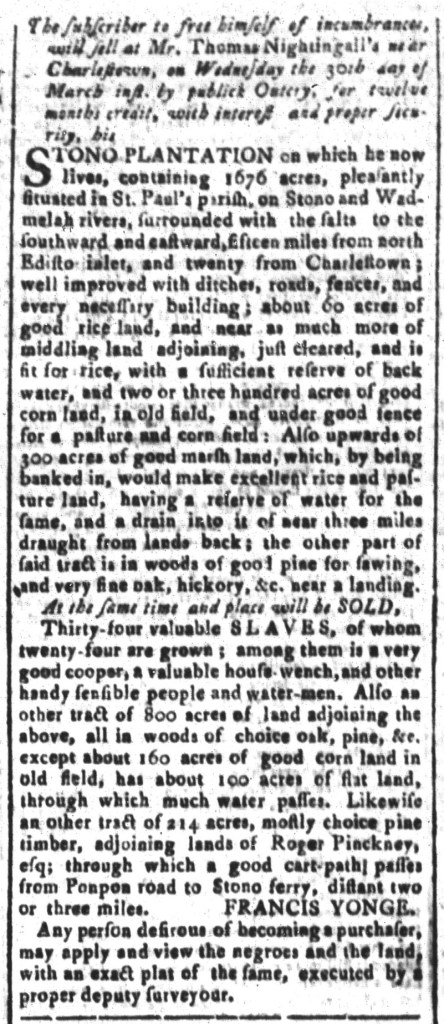 Mar 25 - South-Carolina and American General Gazette Slavery 9