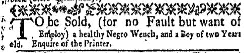 Mar 28 - New-York Gazette Weekly Mercury Supplement Slavery 2