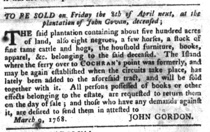 Mar 29 - South-Carolina Gazette and Country Journal Slavery 8