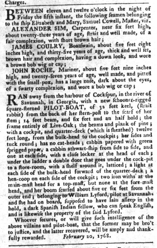 Mar 8 - South-Carolina Gazette and Country Journal Addition Slavery 1
