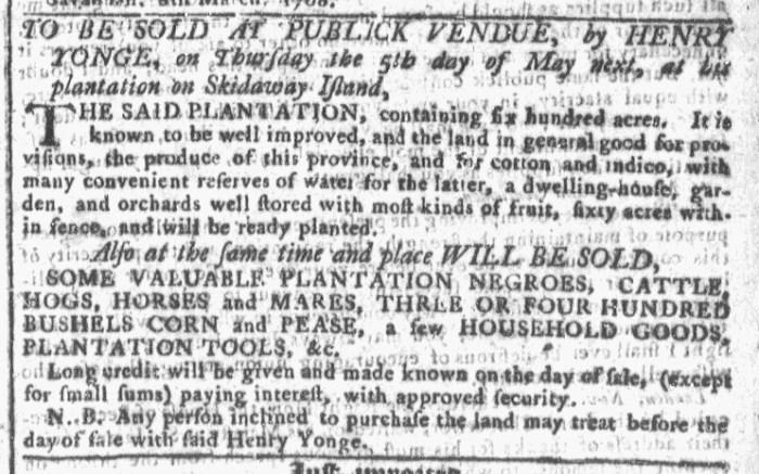 Mar 9 - Georgia Gazette Slavery 2