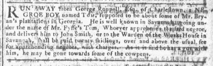 Mar 9 - Georgia Gazette Slavery 5