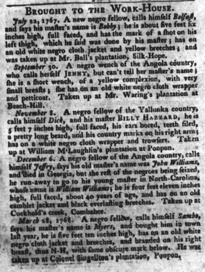 Apr 12 - South-Carolina Gazette and Country Journal Slavery 9