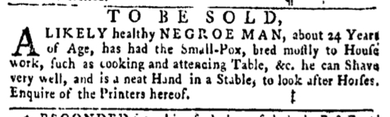 Apr 14 - Pennsylvania Gazette Slavery 4