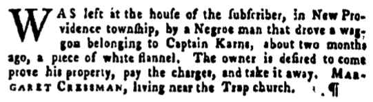 Apr 14 - Pennsylvania Gazette Supplement Slavery 2