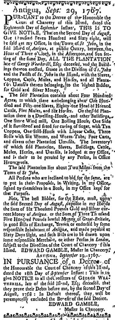 Apr 15 - Massachusetts Gazette Slavery 1