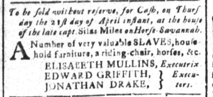 Apr 15 - South-Carolina and American General Gazette Slavery 6