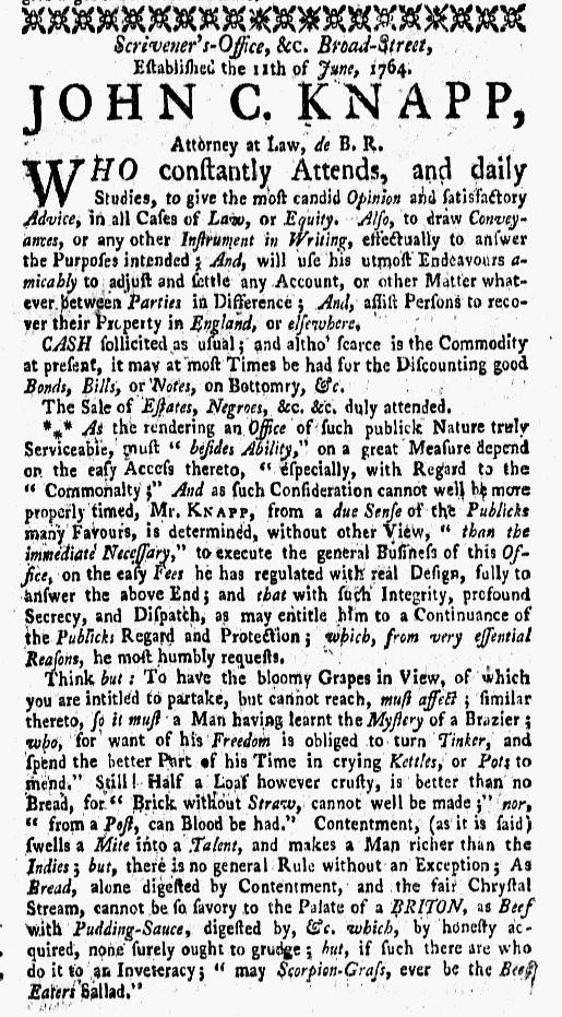 Apr 18 - New-York Gazette Weekly Mercury Slavery 2
