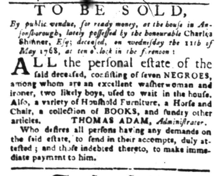 Apr 18 - South Carolina Gazette Slavery 2