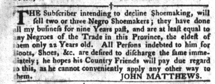 Apr 19 - South-Carolina Gazette and Country Journal Slavery 1