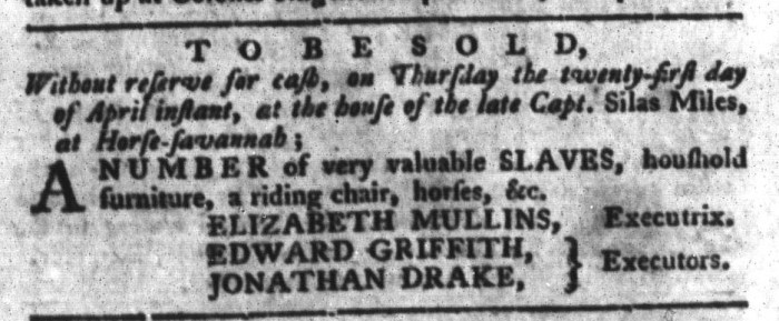 Apr 19 - South-Carolina Gazette and Country Journal Slavery 11