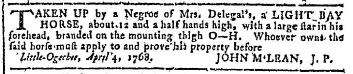 Apr 20 - Georgia Gazette Slavery 3