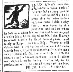 Apr 22 - South-Carolina and American General Gazette Slavery 8