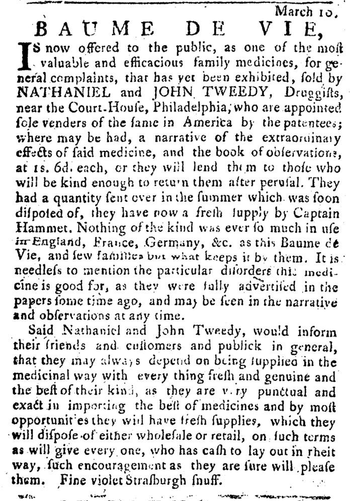 Apr 24 - 4:21:1768 Pennsylvania Journal Supplement