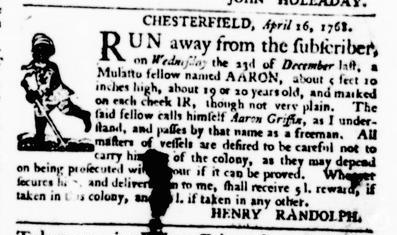 Apr 28 - Virginia Gazette Purdie and Dixon Slavery 4