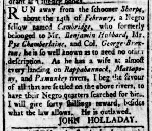 Apr 28 - Virginia Gazette Rind Slavery 4