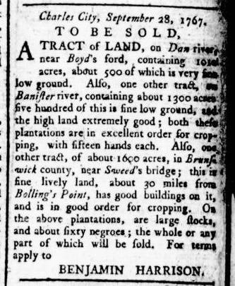Apr 28 - Virginia Gazette Rind Slavery 5