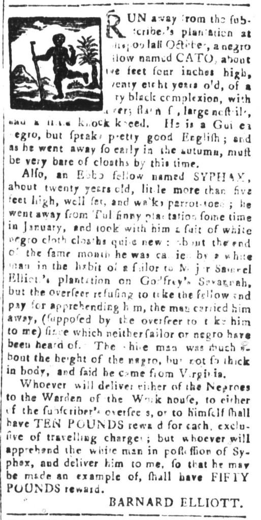 Apr 29 - South-Carolina and American General Gazette Slavery 11