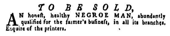 May 5 - Pennsylvania Gazette Supplement Slavery 1