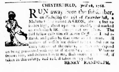 May 5 - Virginia Gazette Puride and Dixon Slavery 4